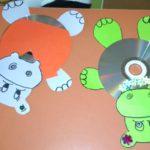 ozdoby z płyty CD - hipopotamy